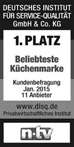Germany Institute for Service Quality vykdytos vartotojų apklausos metu Nolte buvo išrinkta mėgstamiausia vokiškų virtuvių gamintoja du metus iš eilės - 2015 ir 2016 metais.